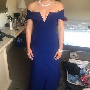 BCBG blue formal dress